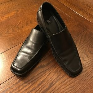 Saks Fifth Avenue Square Toe Leather Loafers